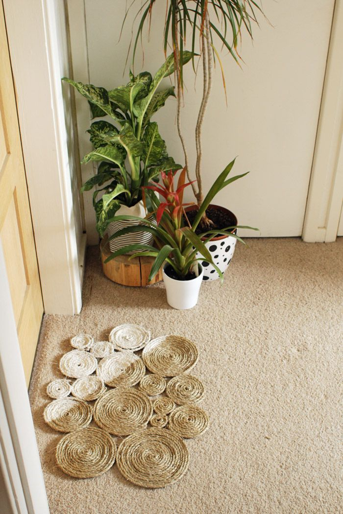 DIY: rope coil doormat