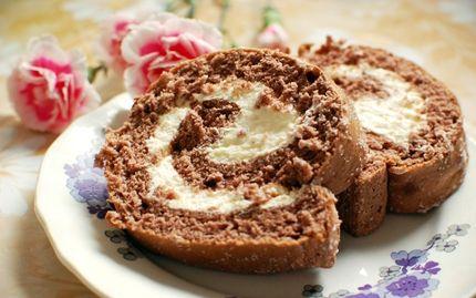 Chocolate Swiss roll (Suklaakääretorttu)