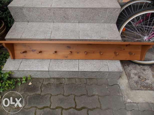 Fenyő polc, kalaptartó, fogas, antikolt Székesfehérvár - 10.000