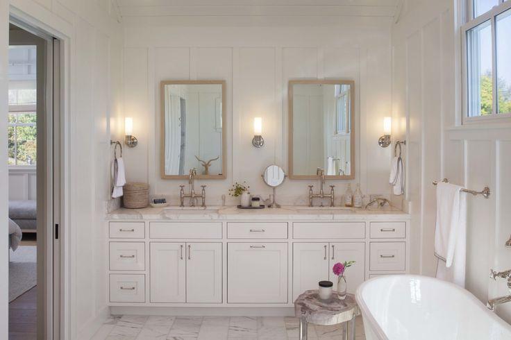 Glam bathroom by modern organic interiors bathroom for Master bathroom farmhouse