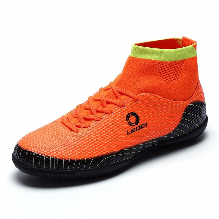 61.99$  Buy here - http://aiei9.worlditems.win/all/product.php?id=32754456641 - 2016 Newest Mens Soccer Shoes Fg High Ankle V Sock Boots Kids Turf Football Cleats Outdoor botines de futbol con tobilleras