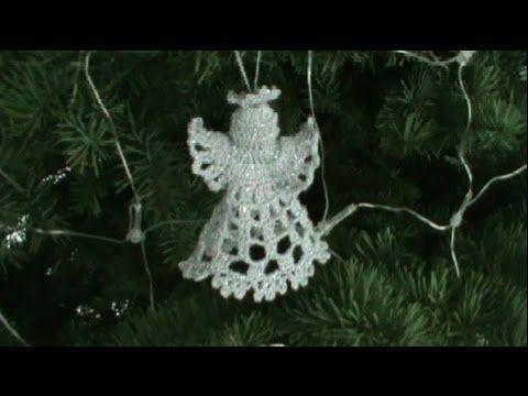 1 DE 2 COMO TEJER ANGEL NAVIDEÑO GANCHILLO CROCHET    2^ PARTE :  http://www.youtube.com/watch?v=QSiWkAagsN0