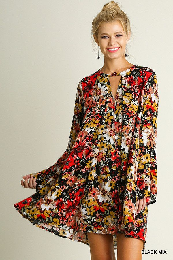 Soft, flowy tunic dress. Umgee brand, runs a little bigger.