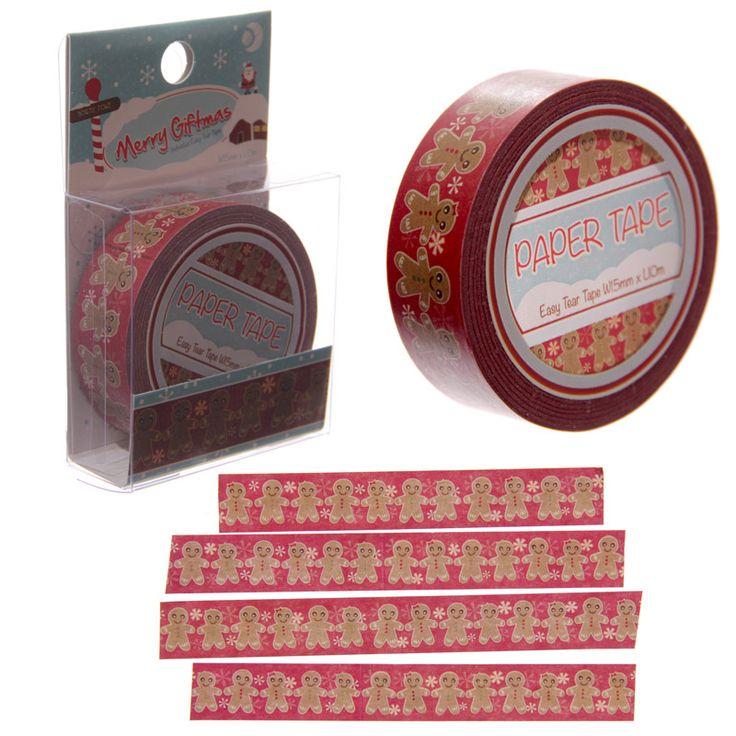 dekoracyjna taśma-washi tape decor - pierniki