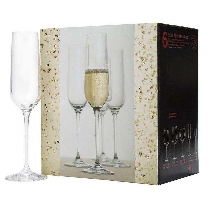 SANTÉ Champagnerflöte 6er Set    Auf Ihr Wohl: Sie stoßen an mit dem edlen Santé-Glas, wahlweise als Champagnerflöte, Weißwein-, Rotwein- und Burgunderglas erhältlich, sowohl einzeln als auch im 6er Set. Die zeitlos elegante Form passt zu jeder Gelegenheit sowie auf jede Tafel - und darf anschließend in die Spülmaschine, damit Sie keine unnötige Arbeit haben. Wenn das nicht noch ein Grund zum F...