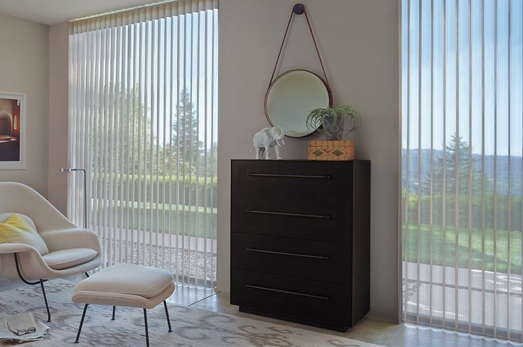 For a softened view of the outdoors, Luminette Privacy Sheers combines a sheer, gentle translucency with ultimate light control for unparalleled style. #hunterdouglas #windowtreatments #livingroom