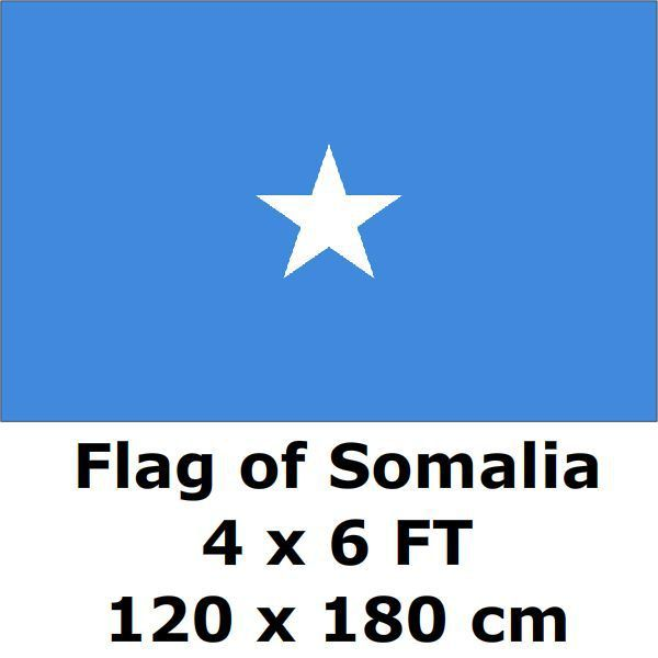 Somalia Flag 4X6FT 120 x 180 cm 100D Polyester Somali Flags And Banners National Flag Country Banner Home Decoration