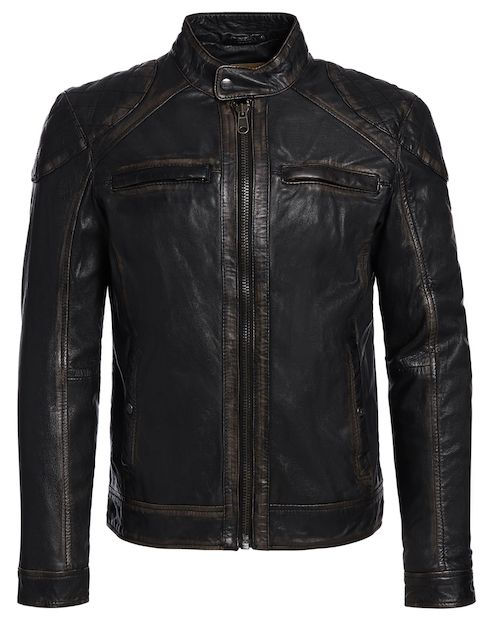 OAKWOOD Lederjacke im leichten Vintage-Look - braun  #kleidoo #fashion #trend #mode #leather #leder #lederjacke #oakwood #man