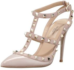 Valentino Rockstud Patent T-Strap Pump. Yes please.
