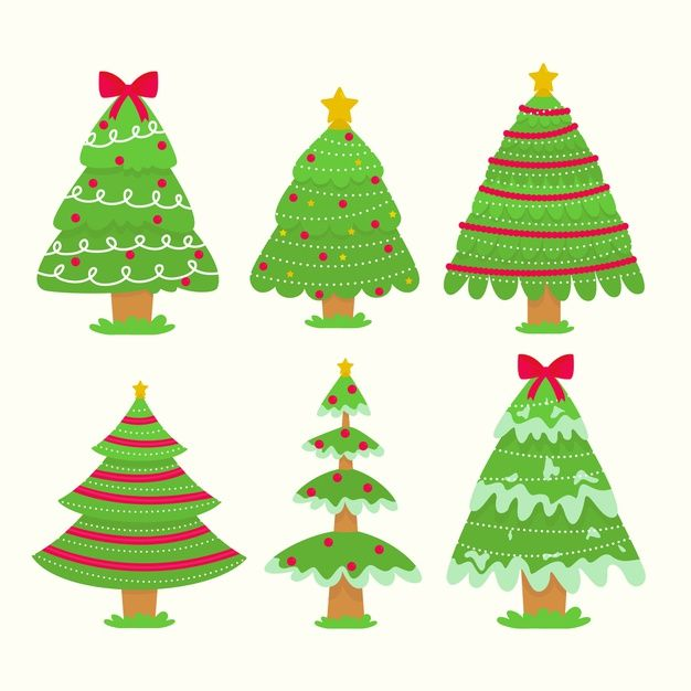 Download Flat Design Christmas Tree Collection For Free Christmas Tree Collection Christmas Vector Free