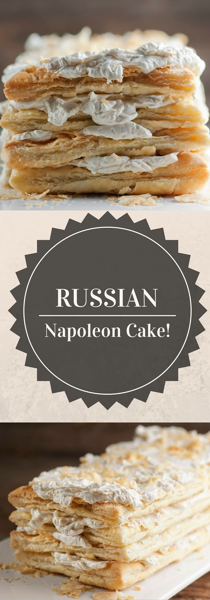 Just four ingredients go into this magically easy recipe for sumptuously delicious Russian Napoleon Cake!