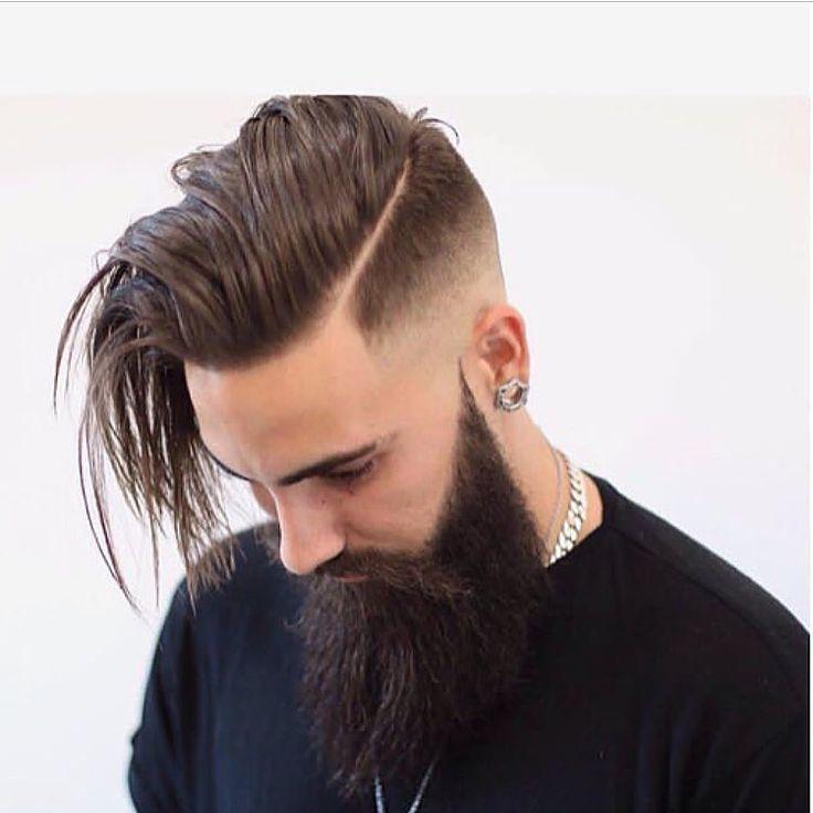 Taglio di capelli parte laterale con barba