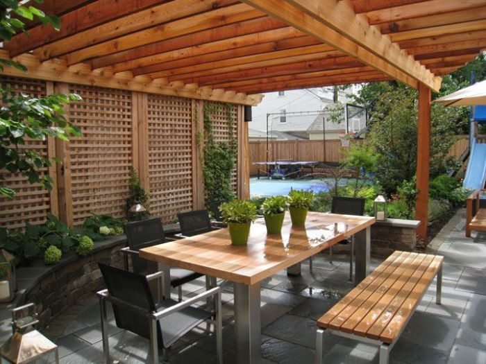 Wood And Stainless Steel Outdoor Table Google Search