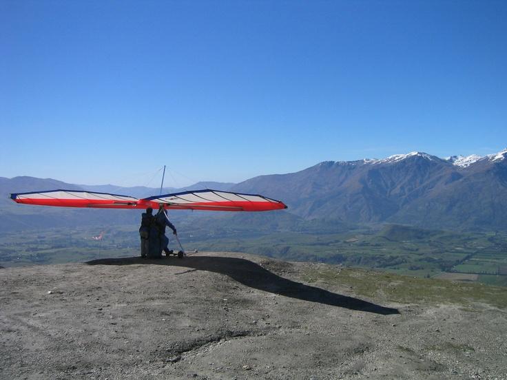 Hang gliding from Queenstown's Coronet Peak in New Zealand
