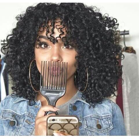 Enjoyable 1000 Ideas About Natural Hair Bangs On Pinterest Tapered Short Hairstyles Gunalazisus
