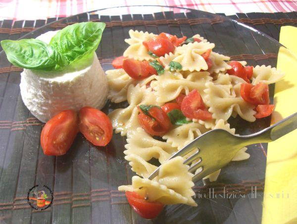 Pasta integrale ricotta e pomodorini - ricetta pasta fredda