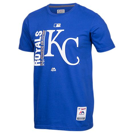 MAJESTIC MEN'S KANSAS CITY ROYALS MLB TEAM ICON T-SHIRT, BLUE. #majestic #cloth #