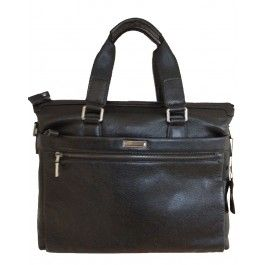 Men's black genuine leather business laptop bag | Free Shipping| Fabhere.com.au