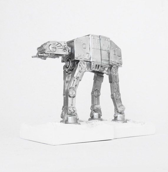Bookend Imperial AT-AT Walker Star Wars Figurine by hodihomedecor