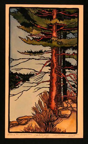 Along The Hedgerow | Kathleen West | Block Prints