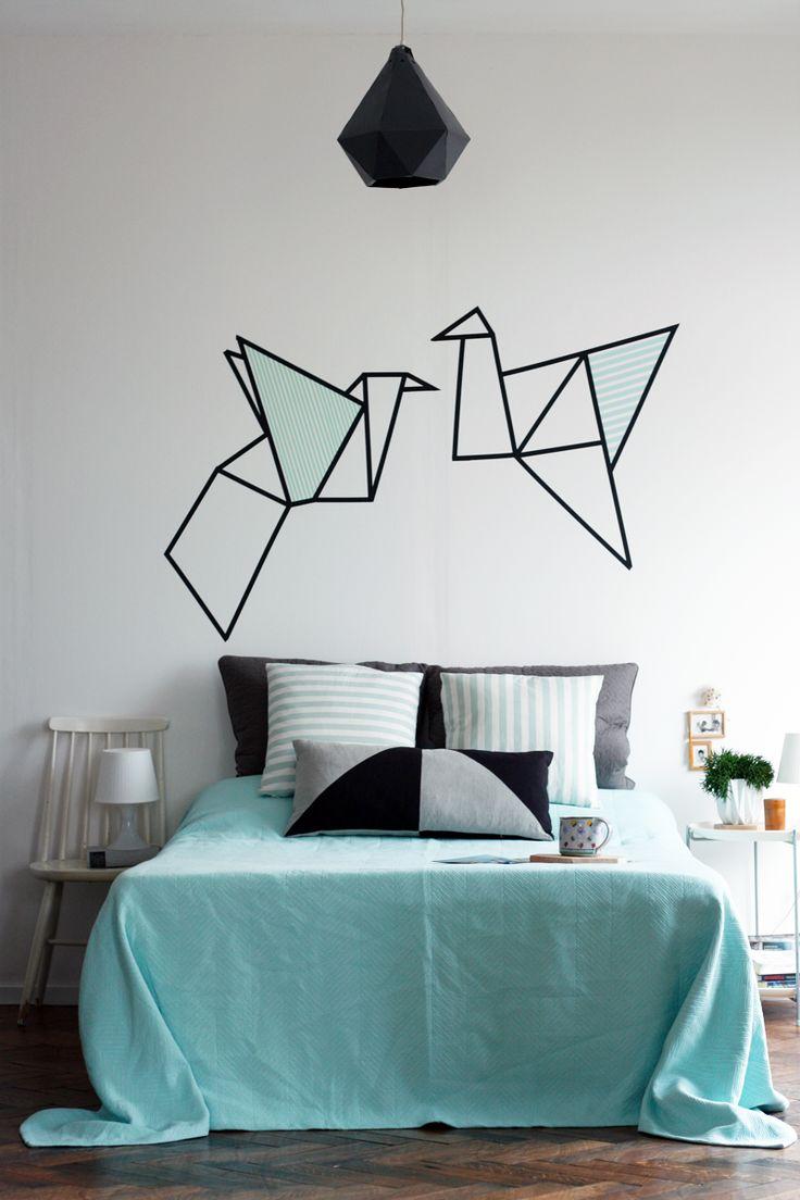 best 25 washi tape headboard ideas on pinterest. Black Bedroom Furniture Sets. Home Design Ideas