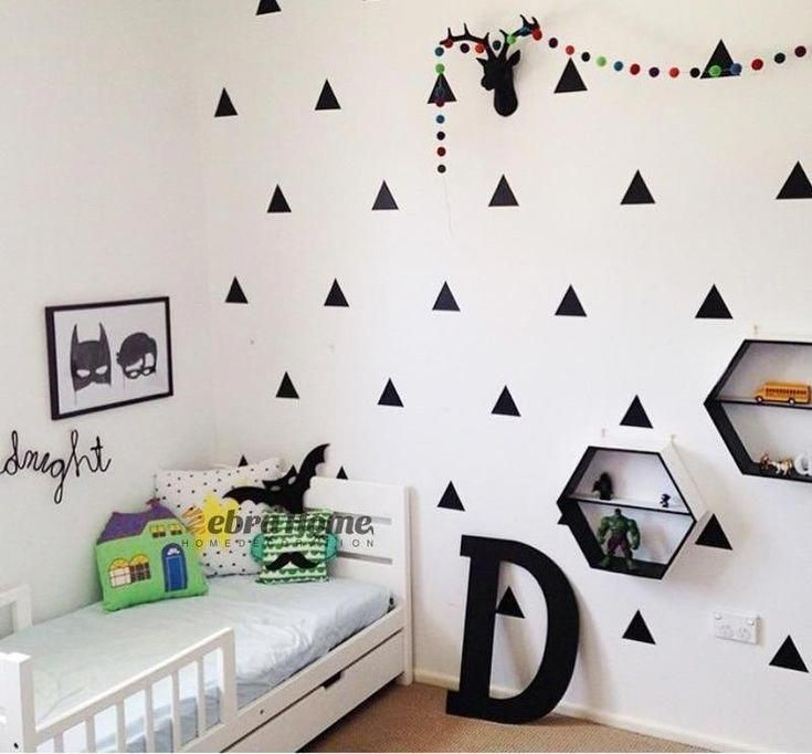 60 Triangle Wall Stickers Decal Childrens Room Kids Vinyl Art Decor 4 Sizes