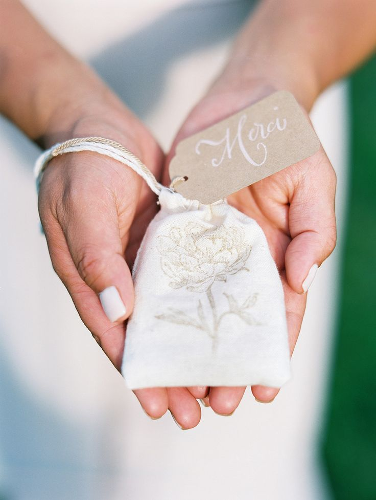 Pretty Little Stamped Favor Bag -- See the wedding on SMP: