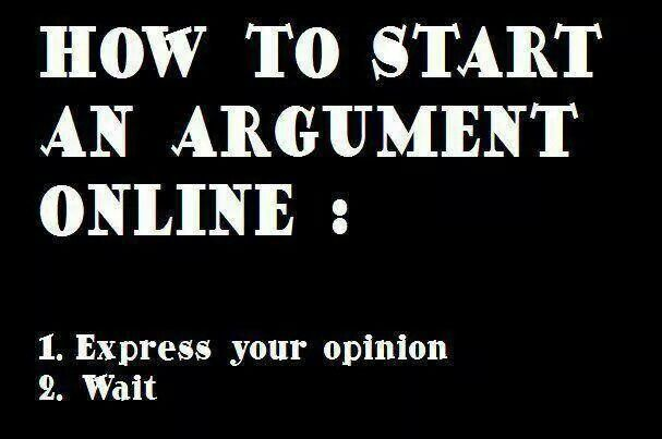 online Argument, Funny quotes