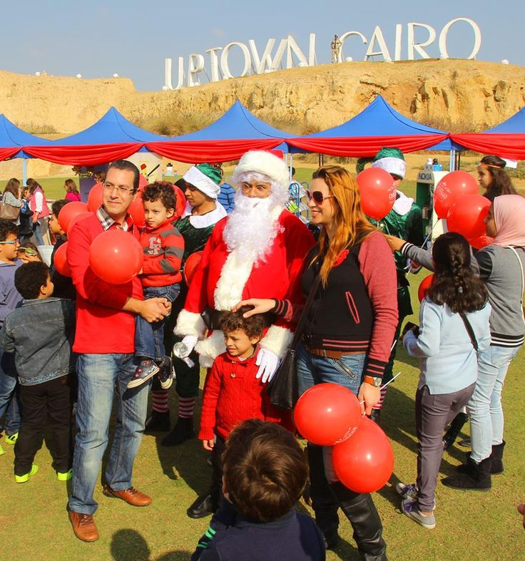 Did you get your picture taken with Santa yet? #emaarmisr #uptowncairo #christmas #event