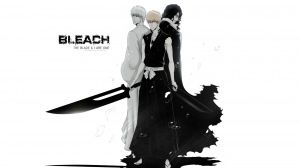 Preview wallpaper bleach, kurosaki ichigo, empty, swords 1920x1080