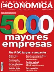 Portada de las 5.000 mayores empresas de Castilla y León. Febrero 2012.