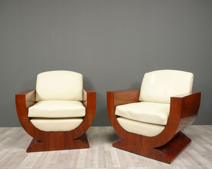 furniture art deco style. pair of armchairs art deco furniture style t