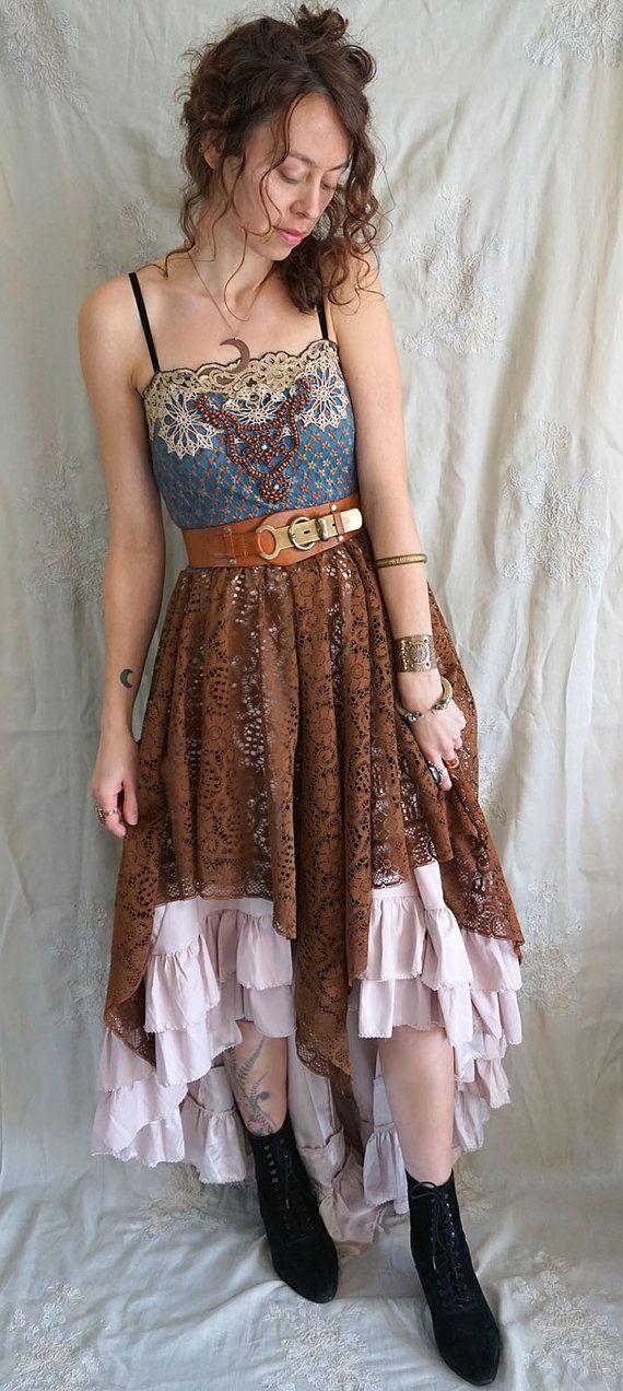 Traveler Dress... boho bohemian whimsical gypsy vintage inspired formal…