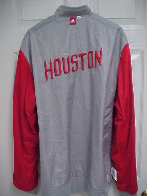 official photos 06329 bb95a HOUSTON ROCKETS Reversible Gray Red Snap Button Sewn ...