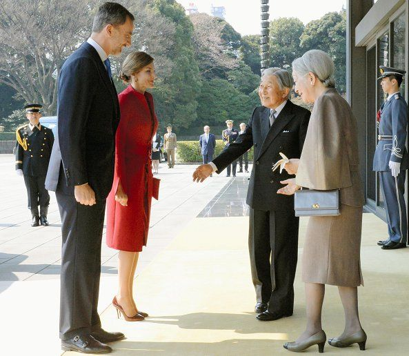 The Imperial Family Welcome King Felipe and Queen Letizia.    5-4-2017