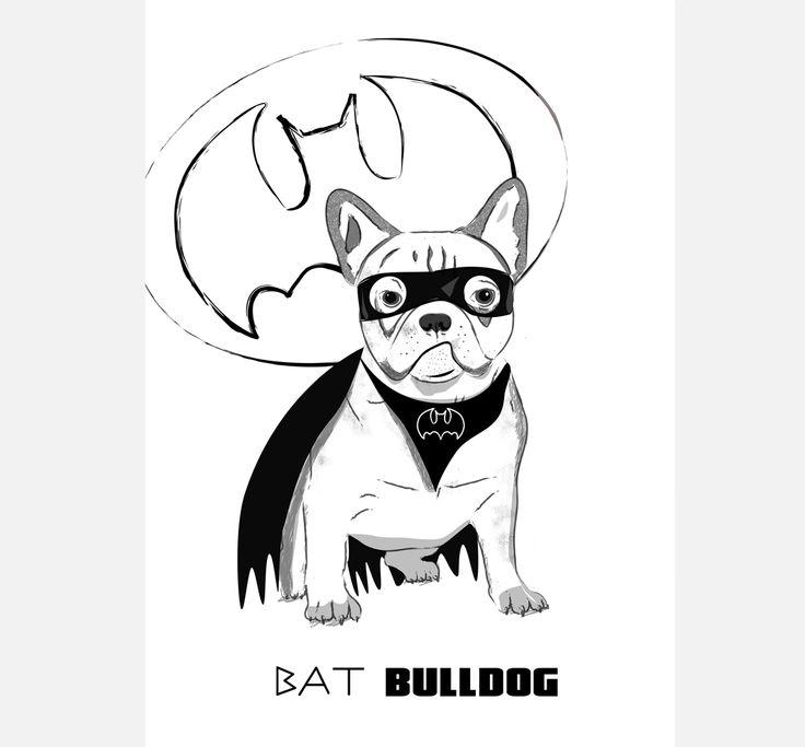 bat french bulldog, typography poster draw #frenchbulldog #frenchie #bulldog #dogposter #dogillustration