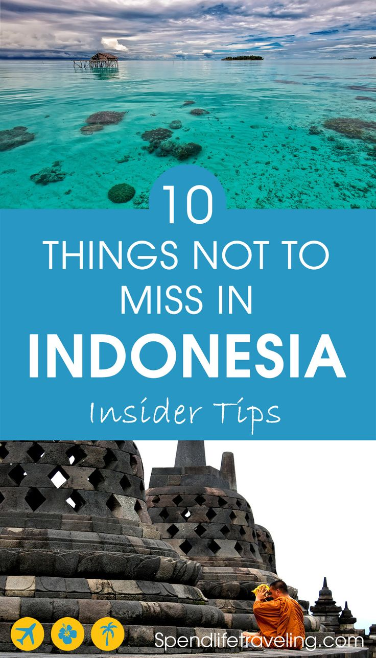 Indonesia is a large and very diverse country. It is impossible to see all this country has to offer in just a few weeks, but these are 10 things you definitely shouldn't miss when traveling to Indonesia. Travel tips from an insider. #Indonesia #traveltips #travelguide #VisitIndonesia #travelAsia