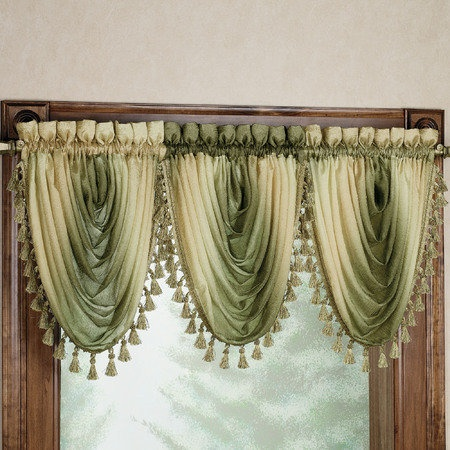 Ombre Scarf Valances and Curtain Panels