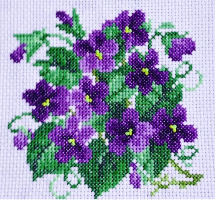 vase de fleurs point croix ile ilgili görsel sonucu