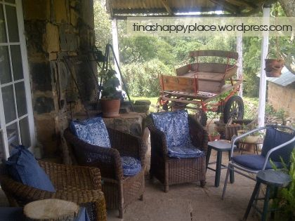 Comfy chairs on the shady 'stoep' looks so inviting!