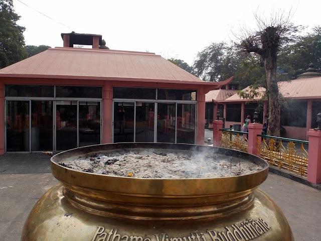 Mahabodhi Temple in Bodh Gaya  where people light Diya (Candle) against their wish