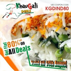 KhauGaliDeals Offering an Maha Independence Day Offer: Get Flat 80% Off on All Deals Coupon Code- KGDIND80