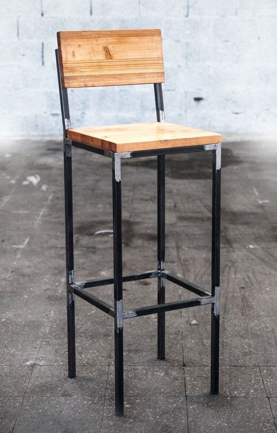 Sgabelli Tipo Bar.Stool Industrial Iron Wood Sgabelli Nel 2019 Sedia