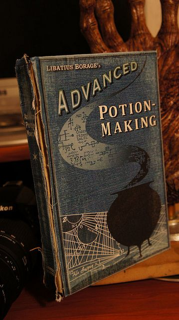 The Prince's copy of Advanced Potion-Making.  I wonder how it looks on the inside...