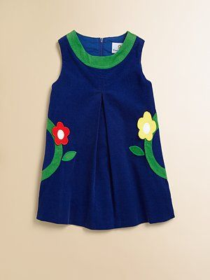 Florence Eiseman Toddler's & Little Girl's Corduroy Dress.... I freaking love jumpers! With tights and maryjanes!