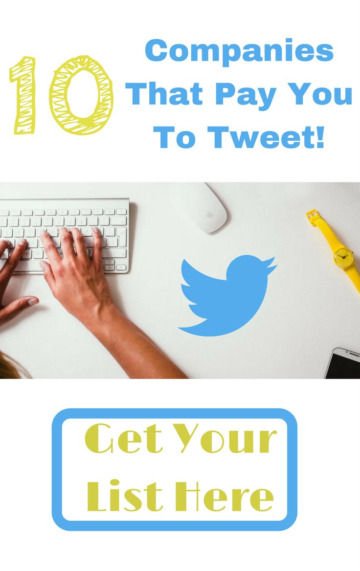 Make Money Online with Twitter.  Here are 10 Companies that will pay YOU to tweet for them!