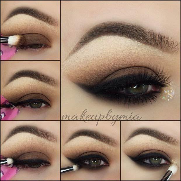 Smokey eye makeup with just eyeliner