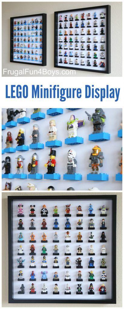 LEGO Minifigure Display with IKEA Ribba Frames