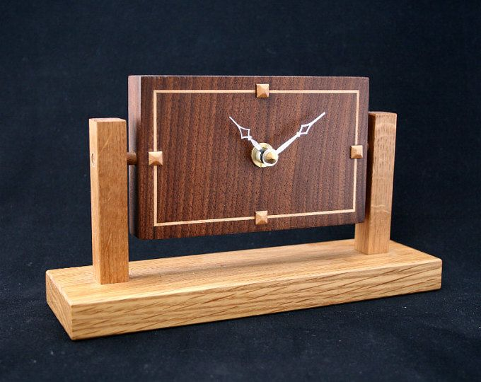 Walnut U0027Art Decou0027 Contemporary Clocks, A Table Clock, One Of My Gifts
