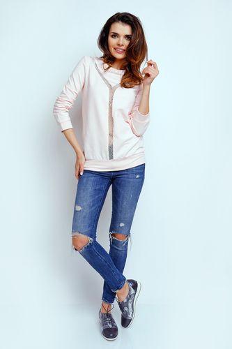 Różowa bluza damska bawełniana - TheTwiggyShop.com